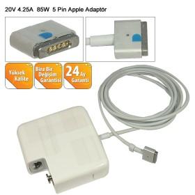 Apple 20V 4.25A 85W 5 pin - Mıknatıslı - MagSafe 2 Uyumlu 5 pin Adaptör