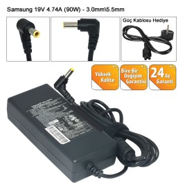 SAMSUNG 90 WATT 19V 4.74A 5.5 X 3.3 mm. NOTEBOOK ADAPTÖR